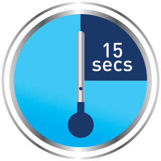 Skin tag remover step - 15 second timer with thermometer